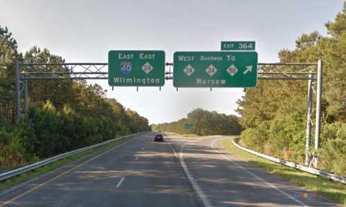 nc i40 north carolina duplin rest area eastbound exit mile marker 364