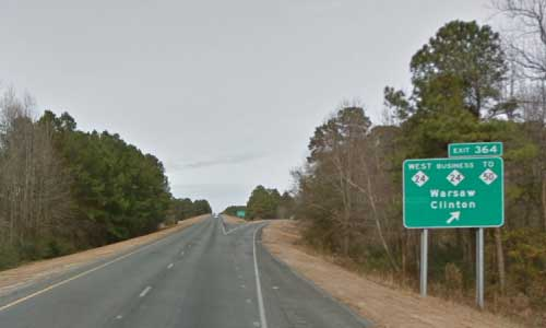 nc i40 north carolina duplin rest area westbound exit mile marker 364