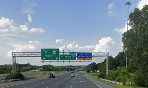 nc i77 north carolina mecklenburg welcome center northbound exit mile marker 1